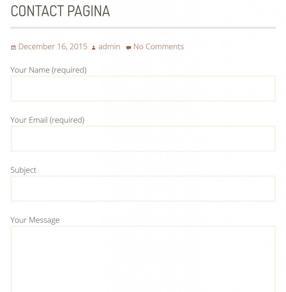 voorbeeld van de contact plugin